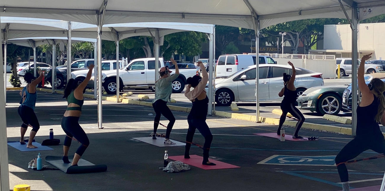 Downtown Santa Monica launches Your Space Studios with physically-distanced outdoor fitness classes daily